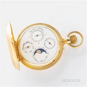Louis Audemars No. 11747 18kt Gold Hunter-case