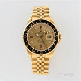 """Rolex 18kt Gold Reference 16758 """"Serti"""" Dial GMT Master"""