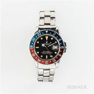 """Rolex GMT Master Reference 1675 """"Pepsi"""" Wristwatch and"""