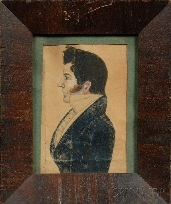 4: Portrait Miniature of a Gentleman in Profile, Americ