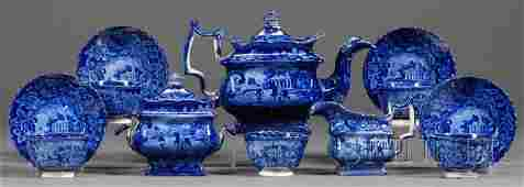 190: Blue Transfer-decorated Staffordshire Pottery Part