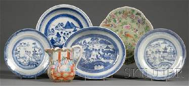 352 Six Chinese Export Porcelain Table Items 19th cen