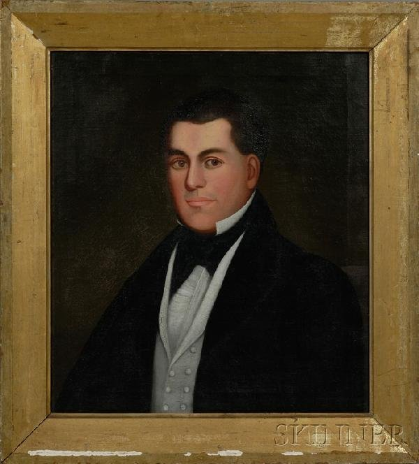 508: Zedekiah Belknap (American, 1781-1858) Portrait of