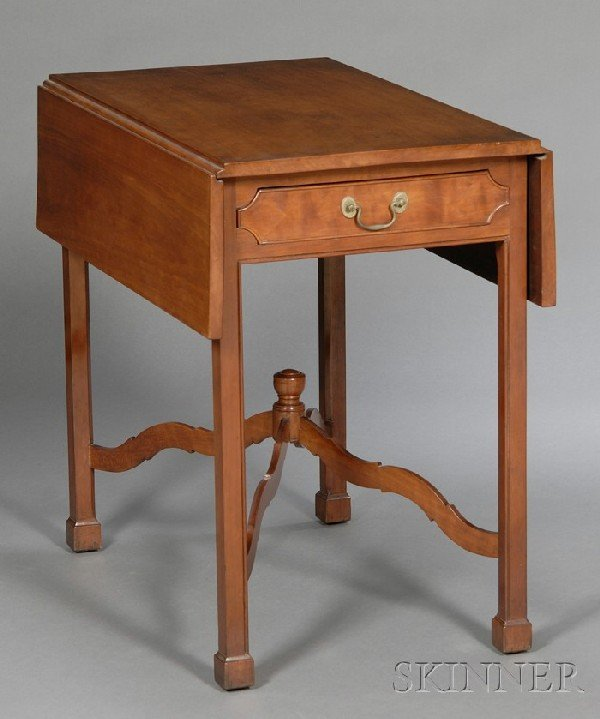 512: Chippendale Carved Cherry Pembroke Table, possibly