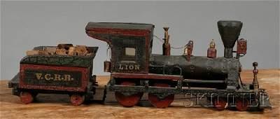 1106 Scratchbuilt Vermont Central Railroad Steam Loco