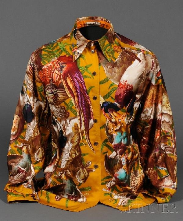 3: Lady's Silk Blouse, Hermes, depicting the bounties o