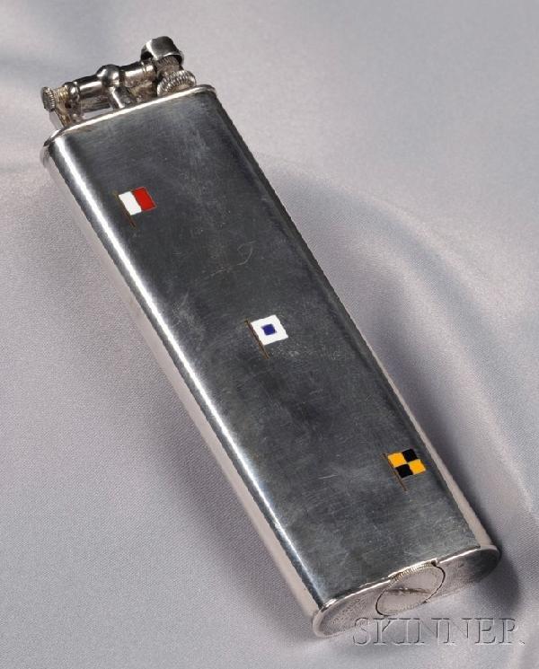 4: Sterling Silver Lighter, Alfred Dunhill, Paris, Reta