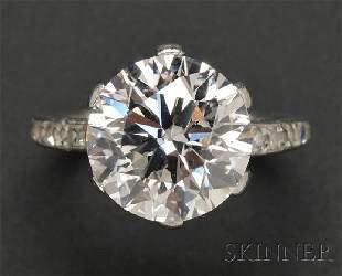 761: Art Deco Platinum and Diamond Solitaire, Tiffany &
