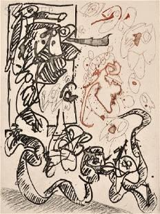 Pierre Alechinsky (Belgian, b. 1927) Serpent de terr