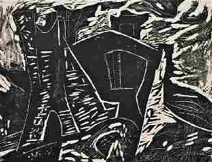 Irving Amen (American, b. 1918) Slaughtered Houses #
