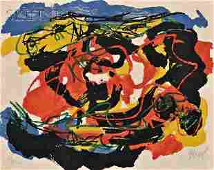 Karel Appel (Dutch, 1921-2006) Untitled (Abstract),