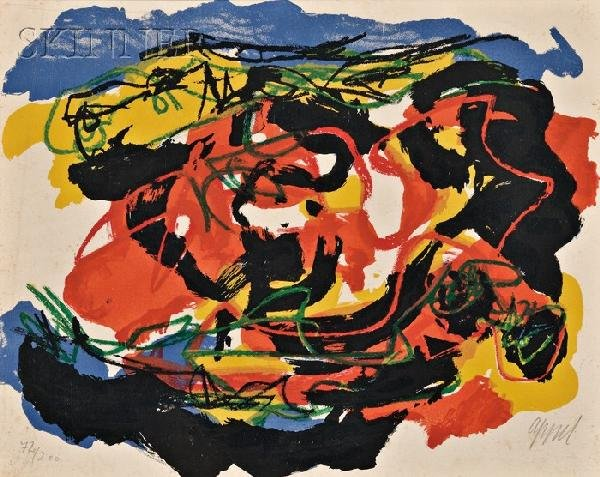 11: Karel Appel (Dutch, 1921-2006) Untitled (Abstract),