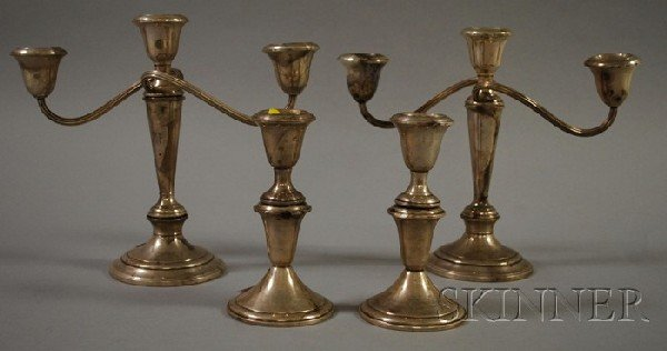 1: Group of Assorted Silver Items, a two-piece Rogers s