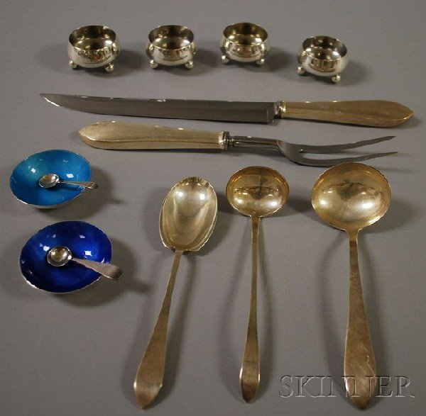 17: Group of Mostly Tiffany Sterling Silver Flatware, a