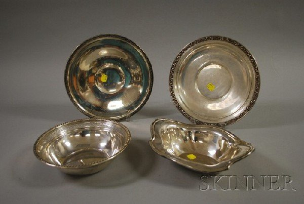 18: Four Sterling Serving Items, a Gorham sterling high
