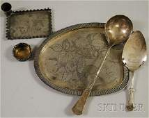 19 Six Aesthetic Movement Silver Plated Tableware Item