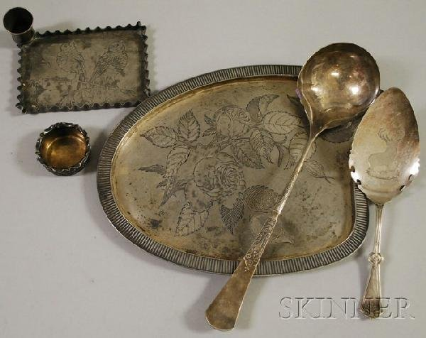 19: Six Aesthetic Movement Silver Plated Tableware Item