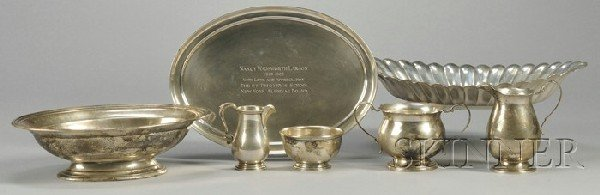 20: Group of Sterling Tableware Items, a Cartier sterli
