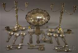 70 Group of Assorted Silver and Silver Plated Tablewar