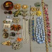 174 Group of Costume Jewelry including a Trifari suit