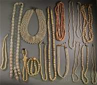 186 Large Group of Cultured and Costume Pearl Jewelry