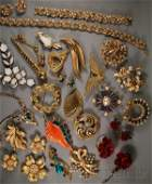 187 Large Group of Trifari Costume Jewelry including