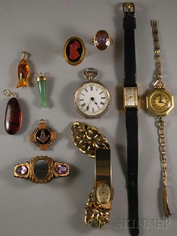 Small Group of Jewelry, including three lady's wri