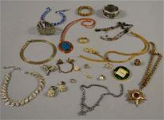 383A Small Group of Costume Jewelry including a heavy