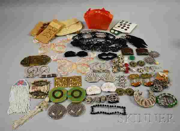 Group of Costume Jewelry and Decorative Items, inc
