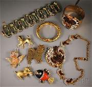 500: Small Group of Vintage Costume Jewelry, including