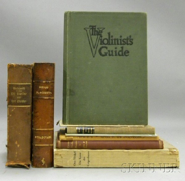 502: Nine Books and Pamphlets of Violin Literature.