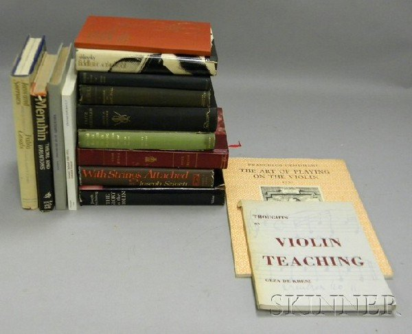510: Fifteen Books on Violinists and Violin Pedagogy.