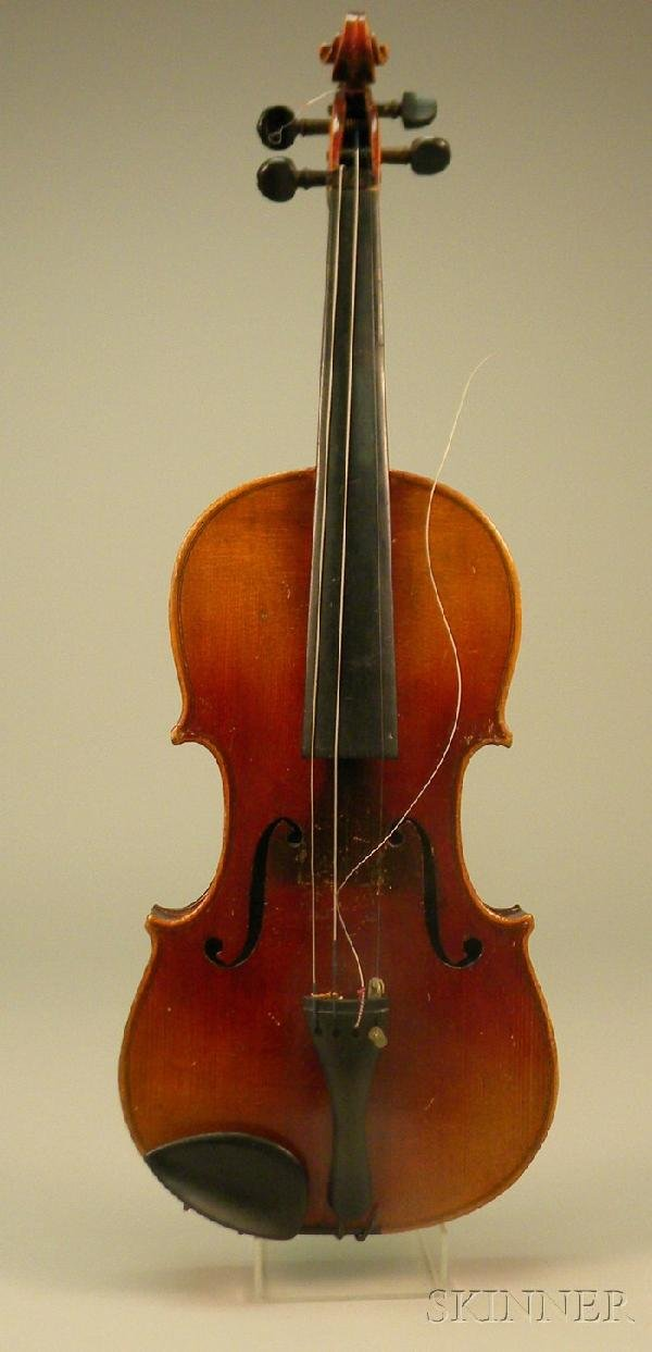 521: German Violin, Klingenthal, c. 1900, 357 mm.