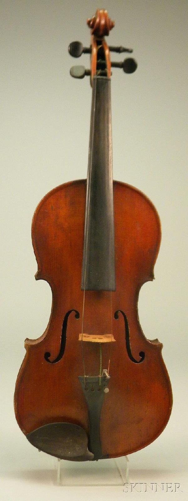 522: German Violin, c. 1900, 360 mm.