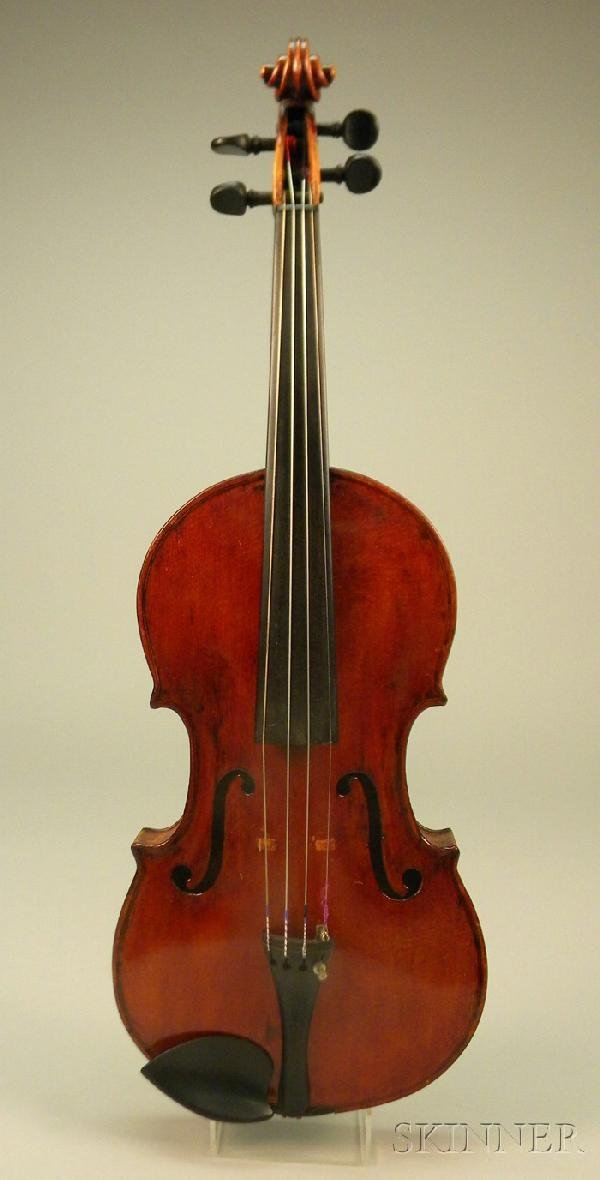524: American Violin, c. 1900, unlabeled, 358 mm, with