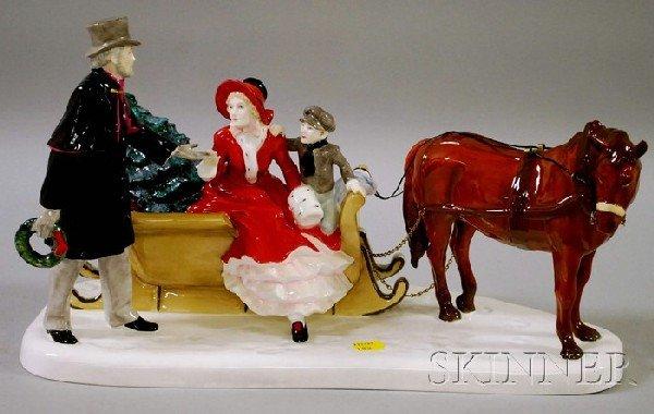 1073: Two Royal Doulton Porcelain Figural Groups, Glad