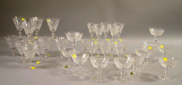 1141: Thirty-five-piece Waterford Colorless Cut Crystal