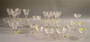 1141 Thirtyfivepiece Waterford Colorless Cut Crystal
