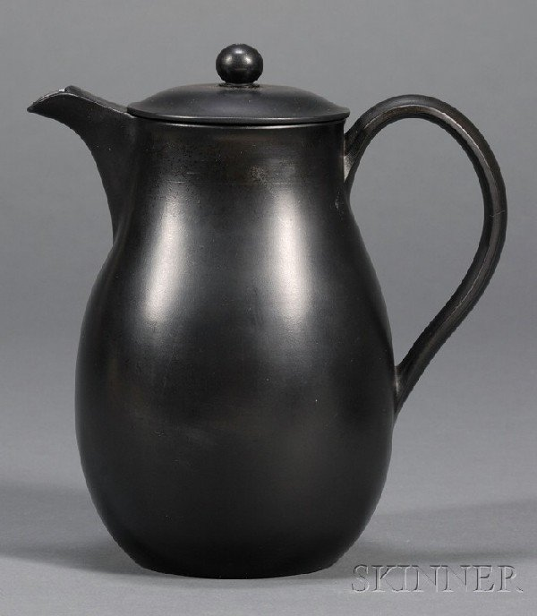 3: Wedgwood and Bentley Black Basalt Hot Water Jug and
