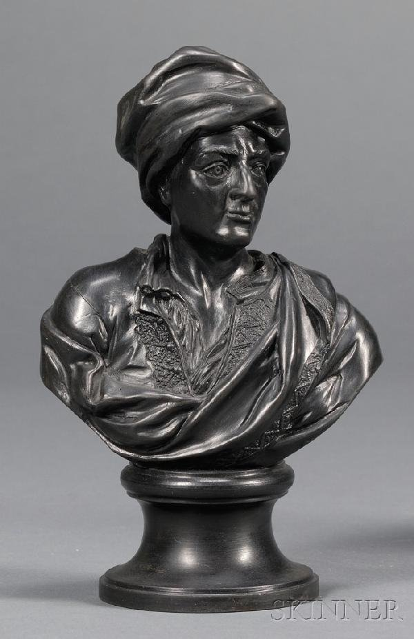 13: Wedgwood and Bentley Black Basalt Bust of Prior, En