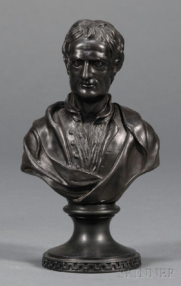 18: Wedgwood and Bentley Black Basalt Bust of Newton, E