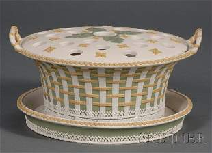117: Wedgwood Three Color Jasper Bough Pot, Cover and S