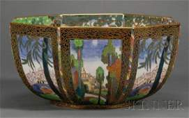 231: Wedgwood Fairyland Lustre Octagonal Bowl, England,