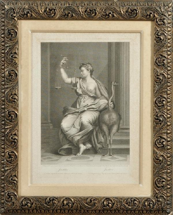 238: Pair of Framed 18th Century Decorative Etchings, a