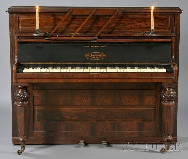 248: Victorian Rosewood Cased Upright Piano, John Broad