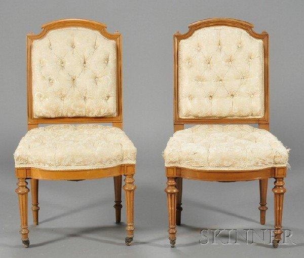 252: Pair of Louis XVI-style Beechwood Side Chairs, eac
