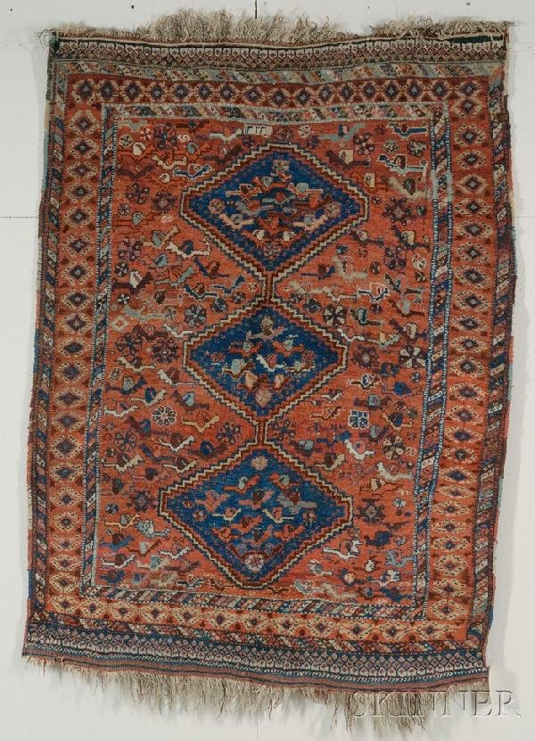 16: Southwest Persian Village Rug, dated 1905, (small s