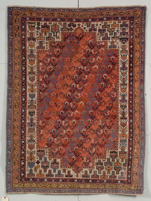 17: Afshar Rug, South Persia, early 20th century, (even