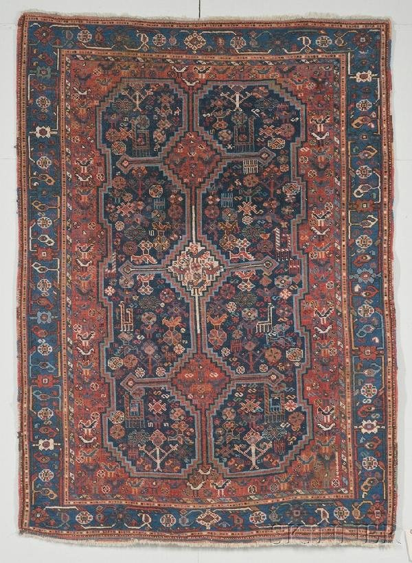 18: Khamseh Rug, Southwest Persia, early 20th century,