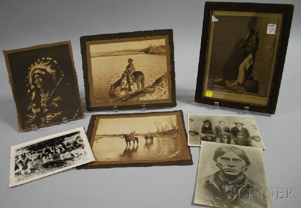 8: Seven Assorted Native American Portrait Photographs